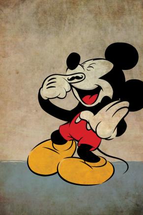 Mickey Mouse Mustache by Jon Feld Arts