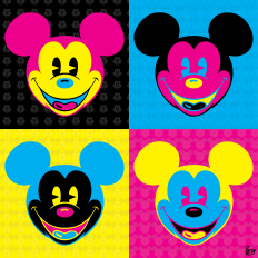 CMYK Mickey
